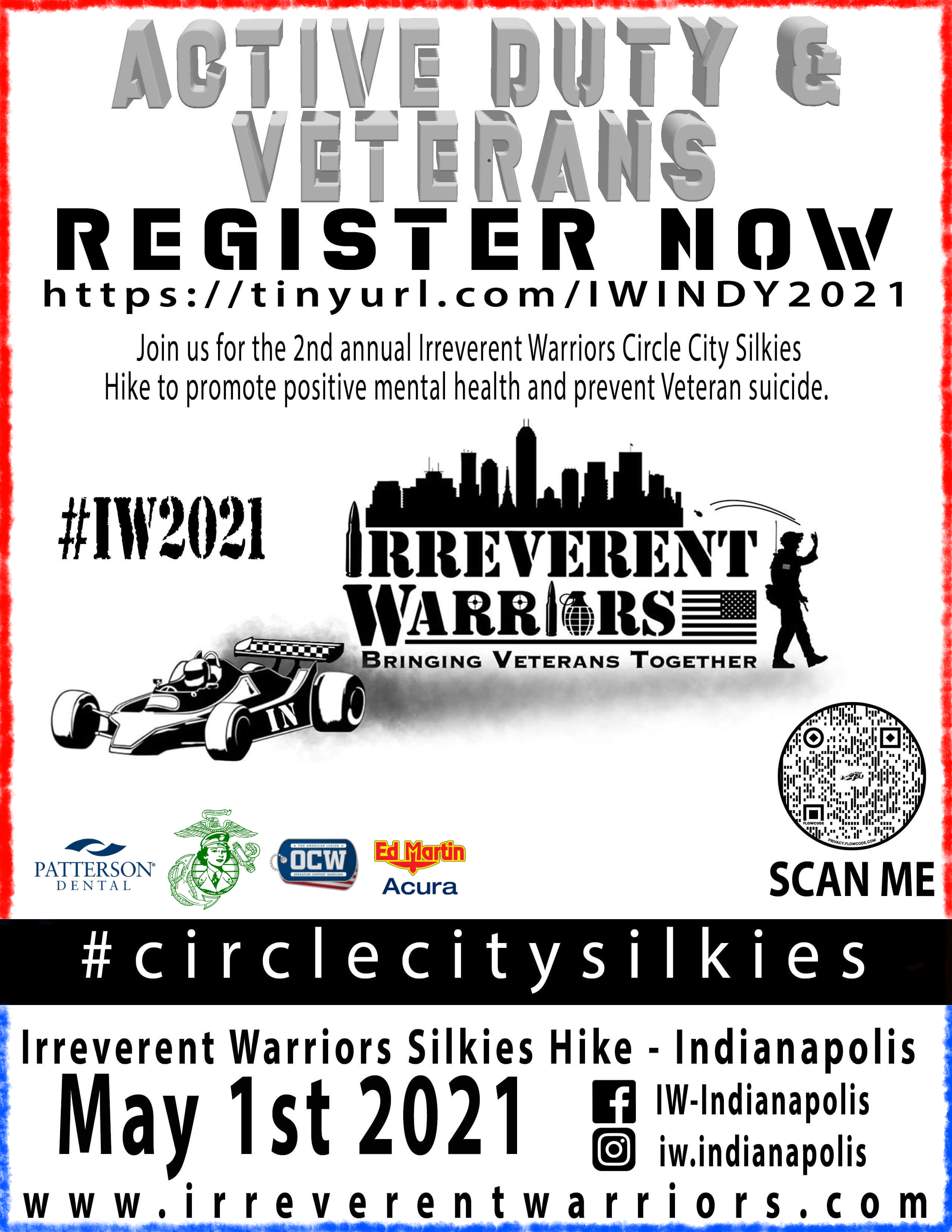 Irreverent Warriors Silkies Hike - Indianapolis