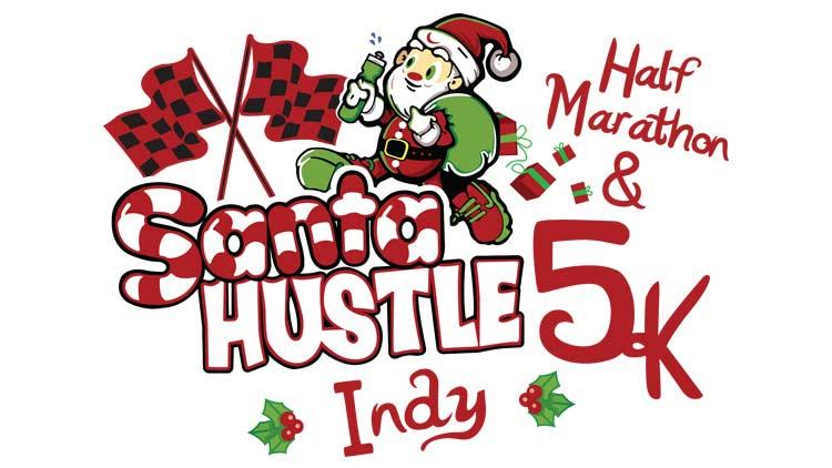 Santa Hustle Indy 5k and Half Marathon 1