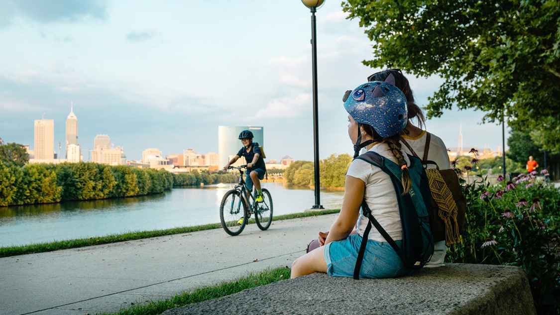 Running and Biking in Indy