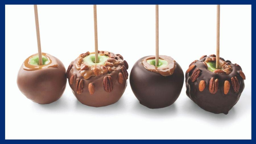 Carmel Apples at DeBrand Chocolates