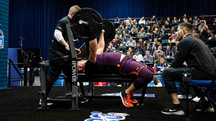 NFL Scouting Combine - Bench Press Viewing & Inside Look