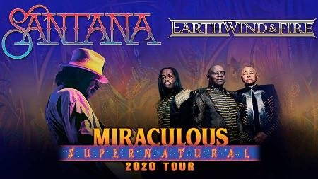 Santana and Earth, Wind & Fire - Miraculous Supernatural Tour