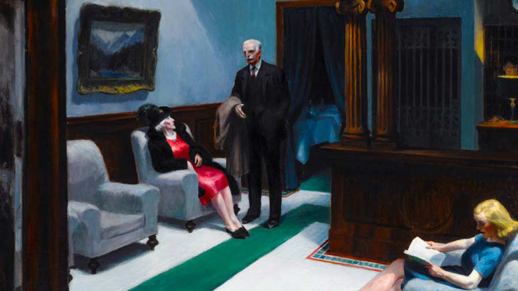 Edward Hopper and the American Hotel Exhibit at Newfields